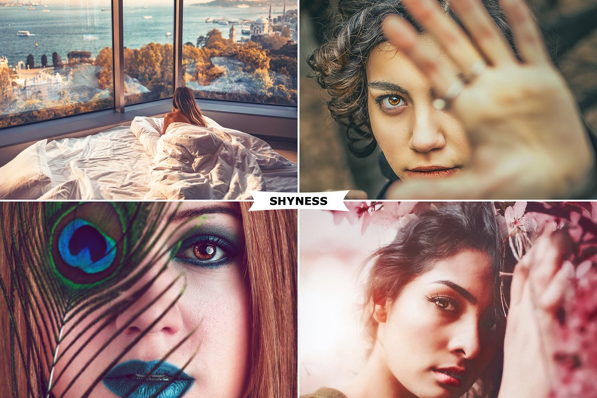 4 Shyness Photoshop Actions