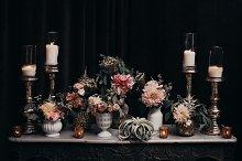 Vintage Flowers & Candles