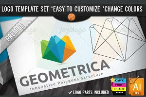 Colorful Creative 3D Geometric Logo