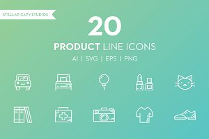 20 Product Line Icons