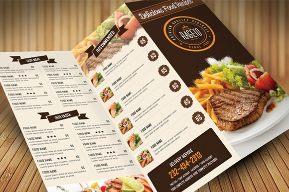 Food Menu Brochure Templates Creative Market - Food brochure templates