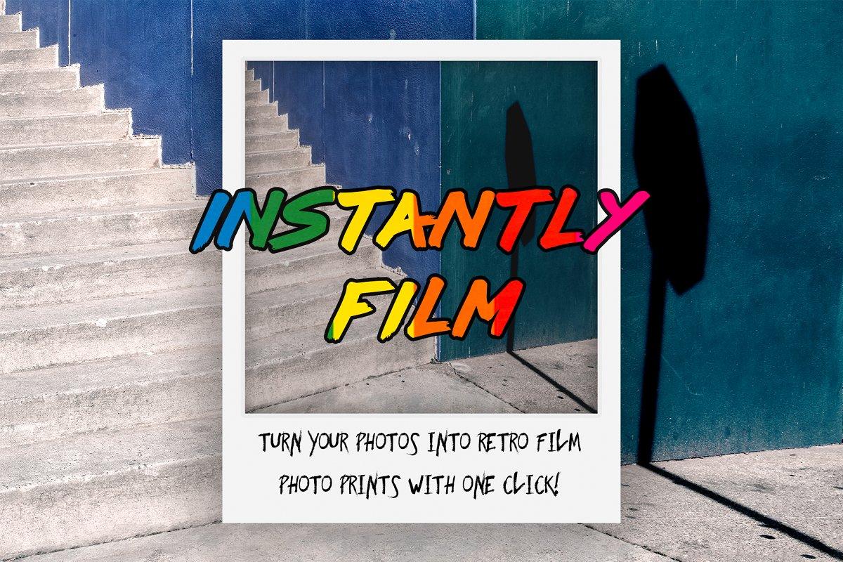 Instant Film Photoshop Action