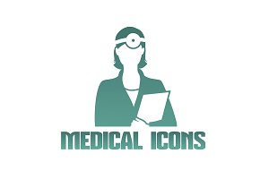 Medical icon doctor otolaryngologist