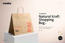 Natural Kraft Shopping Bag 1 Mockup by  in Mockups