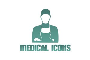 Medical icon of surgeon doctor