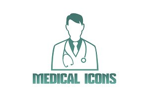 Medical icon of doctor therapist
