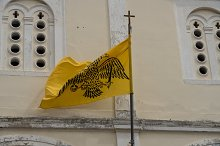 Flag on St George church in Old Town by  in Architecture