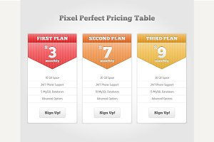 Vector Price table for web