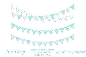 Baby Boy Digital Bunting Garland