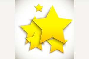 Background with yellow stars