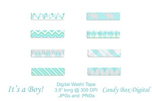 Baby Boy Digital Washi Tape