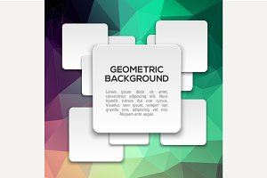 Vintage geometric background with 3d