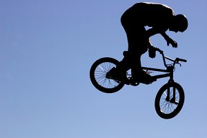 Extreme Biker Silhouette