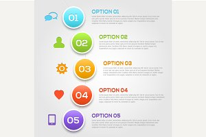 Modern infographics options template