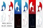 Angel and devil Vector logo