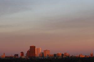 Rochester, NY skyline at sunrise 1