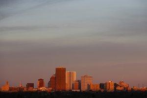 Rochester, NY skyline at sunrise 2