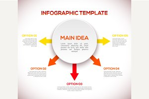 Infographics 3D template with arrows