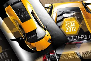 Super motor sports brochure design