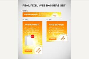 Standard size web banners set.