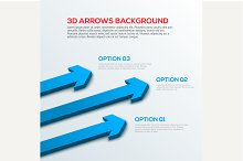 3D arrows background, infographic