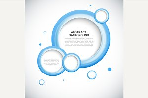 Abstract 3D blue circles background.