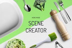 Kitchen equipment scene generator