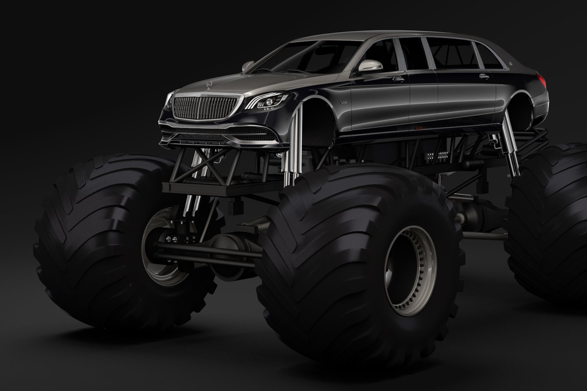 Monster Truck Mercedes Maybach S 650