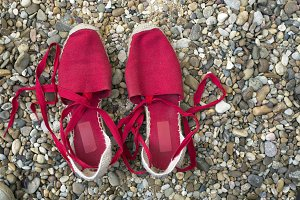 red slippers