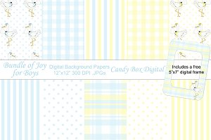 Bundle of Joy Boy Digital Papers