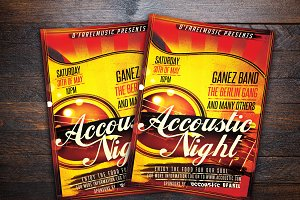 Accoustic Night Concert Flyer