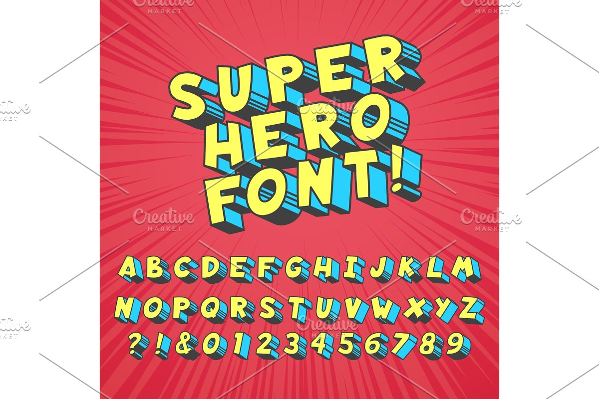 Super hero comics font  Comic