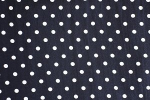 Polka dot fabric background