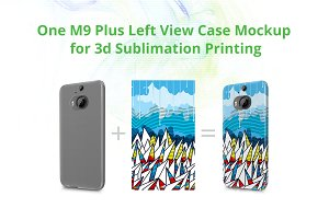 HTC One M9 Plus 3dCase Design Mock-u