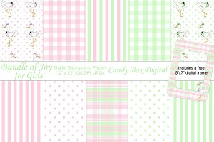 Bundle of Joy Girl Digital Papers