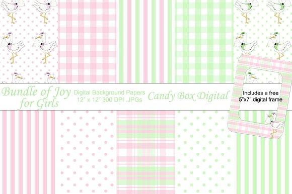 Bundle of Joy Girl Digital Papers