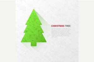 Modern flat christmas tree