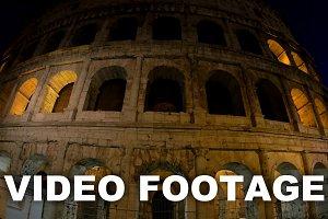 Illuminated Coliseum in Rome night