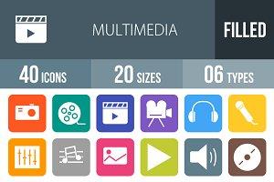 40 Multimedia Flat Round Corner