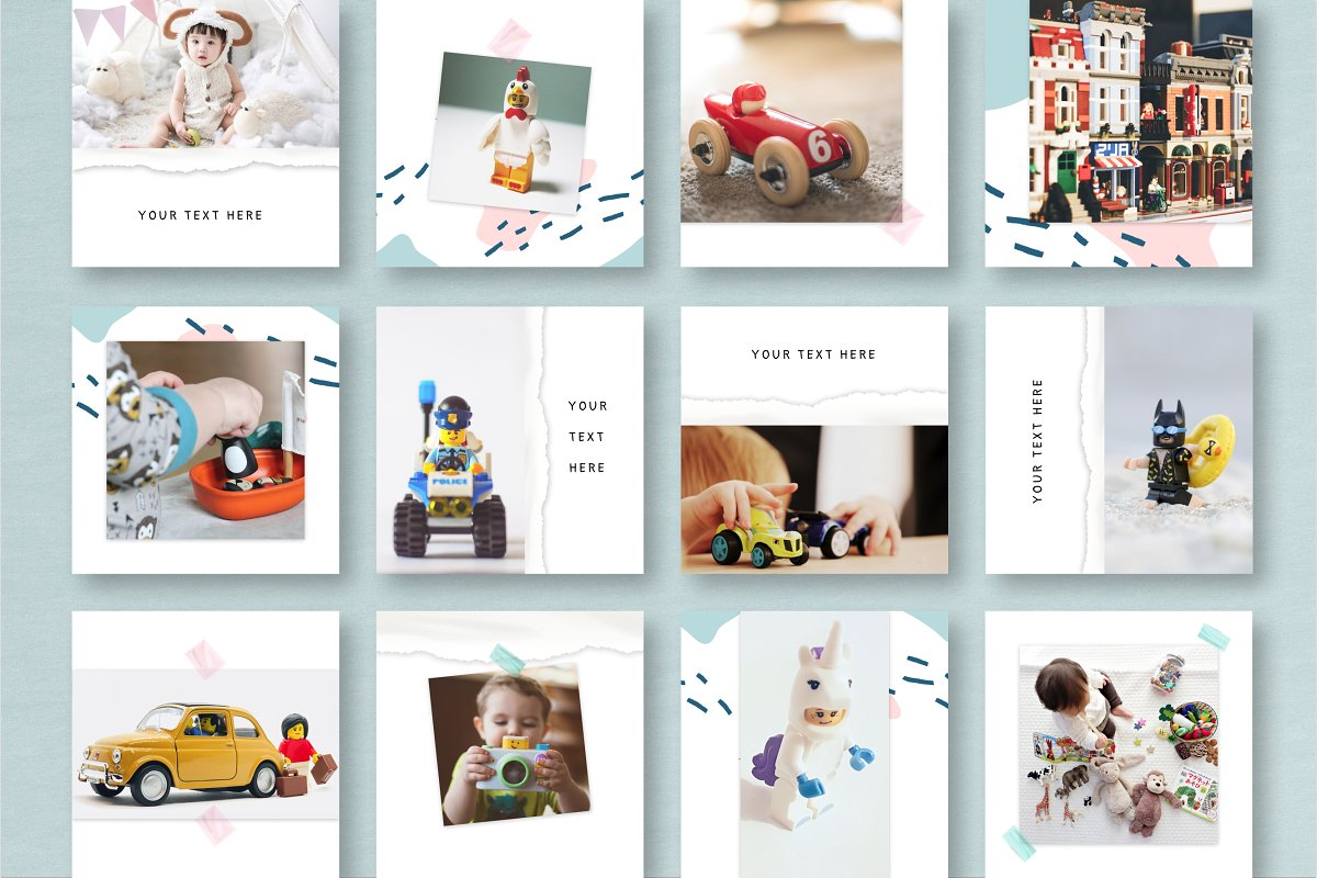 COLOR DREAMS Instagram Templates in Instagram Templates - product preview 2
