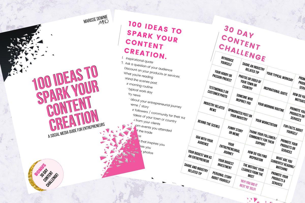 100 Content Ideas Guide
