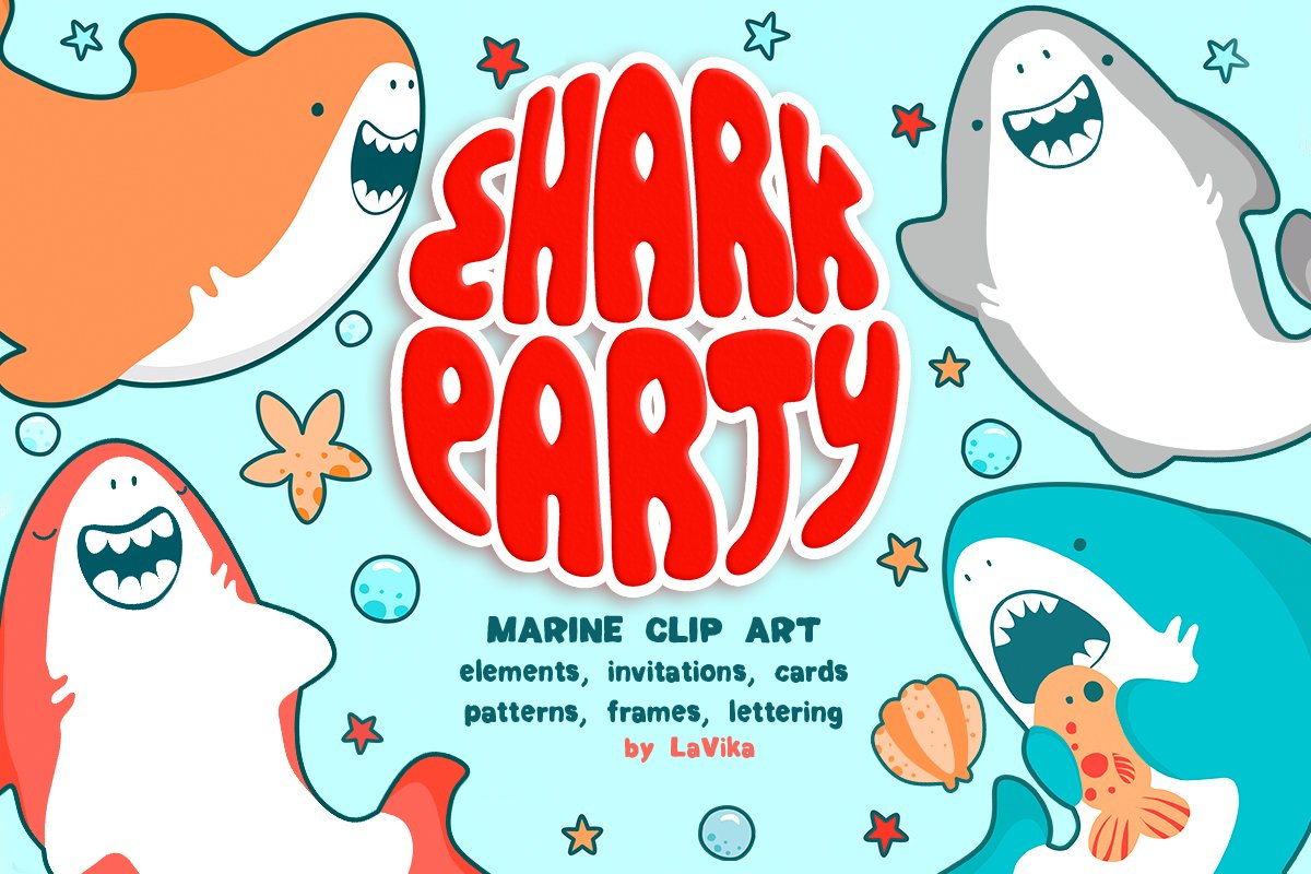 Baby Shark Party / Underwater World ~ Illustrations