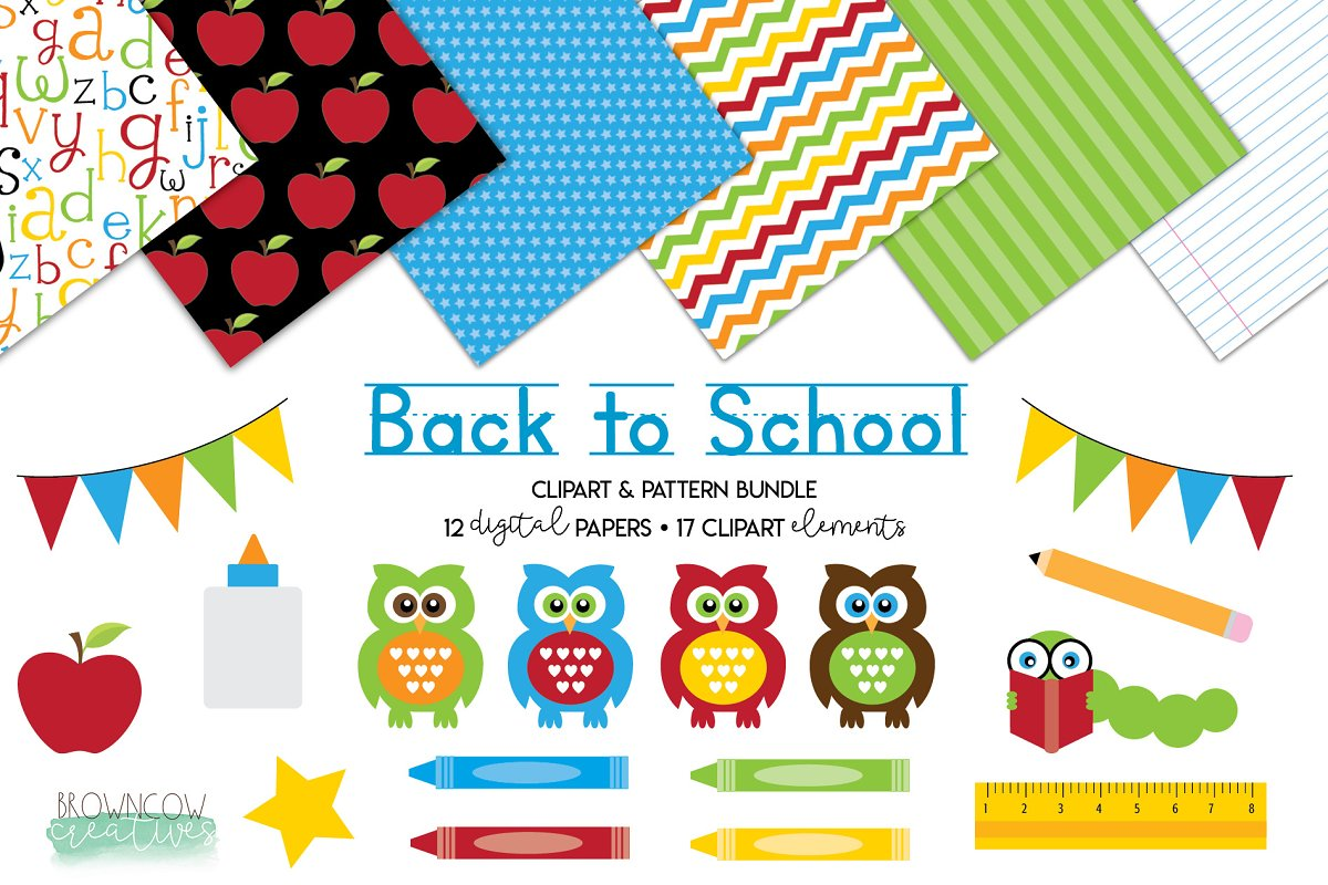 Back to school cute. Clipart backgrounds