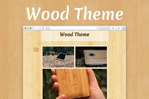 Woody - Tumblr Wood Theme
