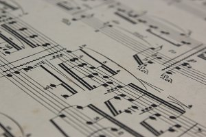 Sheet Music Closeup