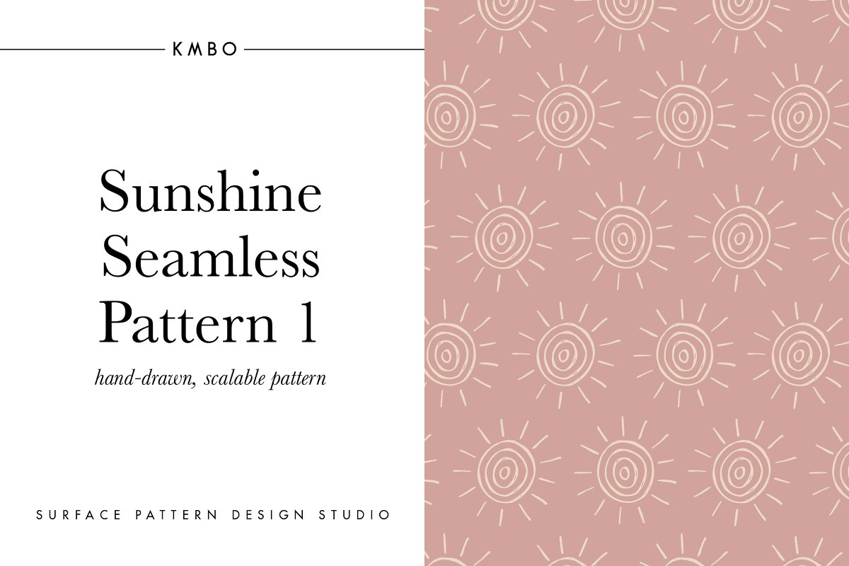 Sunshine Seamless Pattern 1
