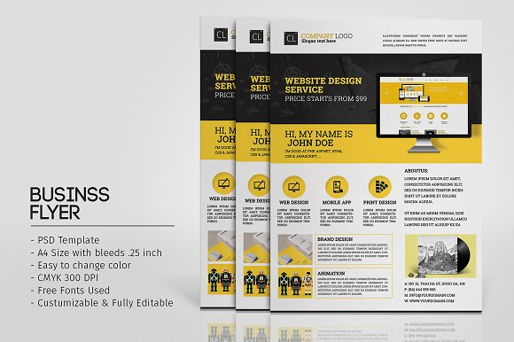 web promotion flyer template flyer templates creative market