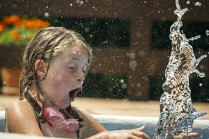 Little girl splashing