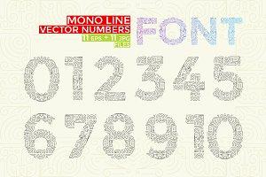 Vector Mono Line style Geometric