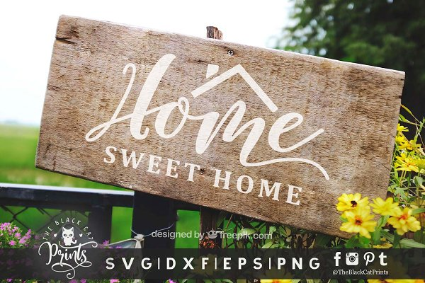 Home Sweet Home Svg Dxf Eps Png Pre Designed Photoshop Graphics Creative Market